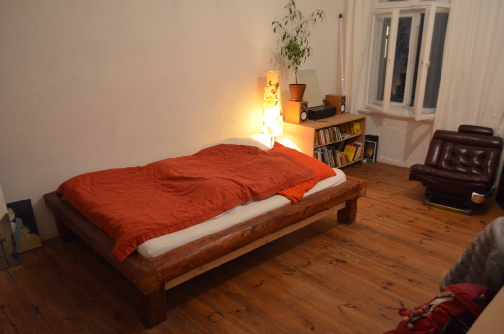 ベルリンで泊まった家は、値段も高くなかった割に、部屋も広く、大満足でした。