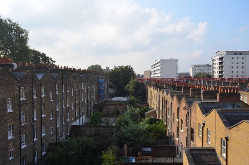 ロンドンではこの建物の中の一角に住みました。