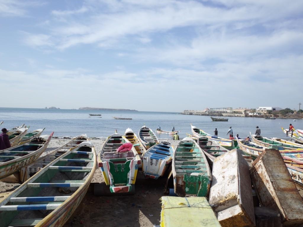 セネガルの街の雰囲気が伝わる写真